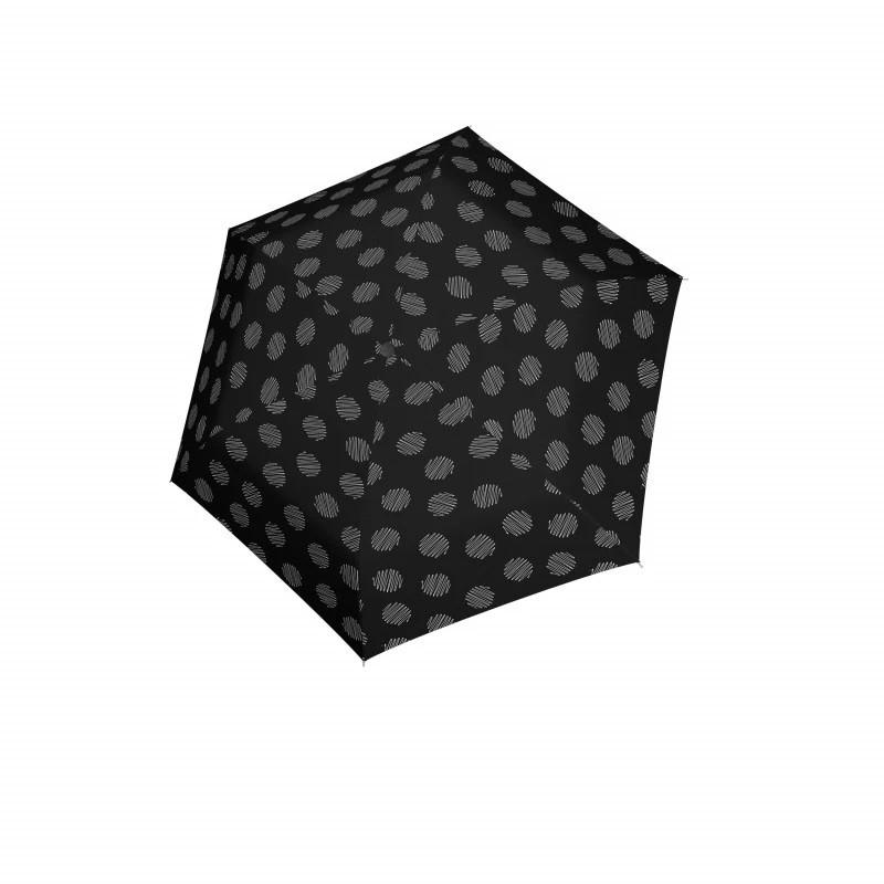 Černý mechanický skládací dámský deštník se vzorem Brynn