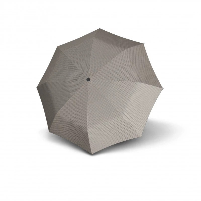Šedobéžový skládací plně automatický dámský deštník s puntíky Rylie