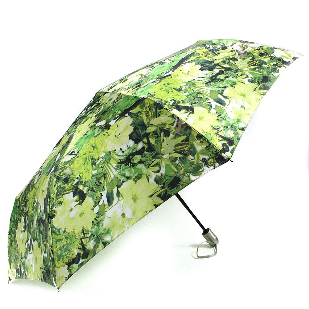 Zelenožlutý plně automatický skládací dámský deštník s květy Jimena
