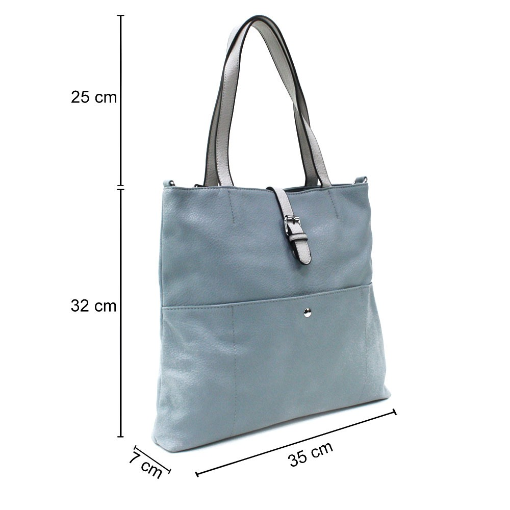 Světle modrá elegantní velká dámská kabelka Moreen