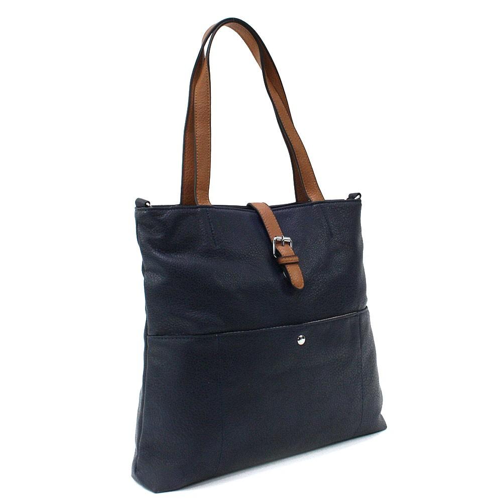 Tmavě modrá elegantní velká dámská kabelka Moreen