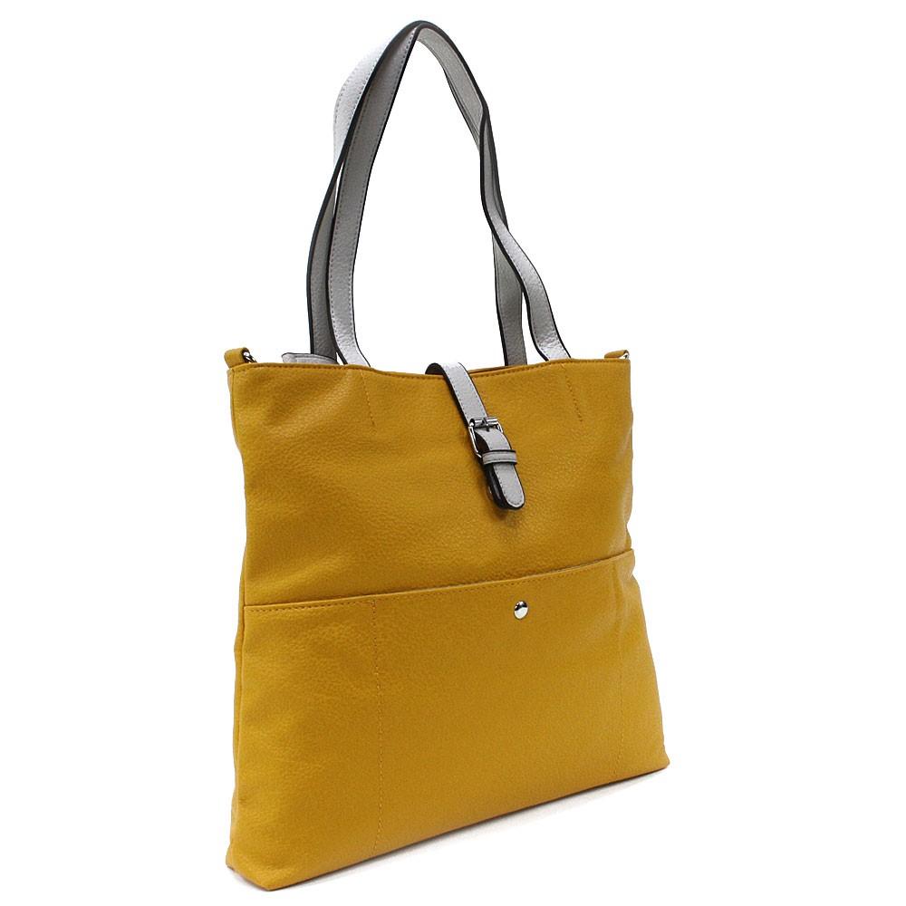 Žlutá elegantní velká dámská kabelka Moreen