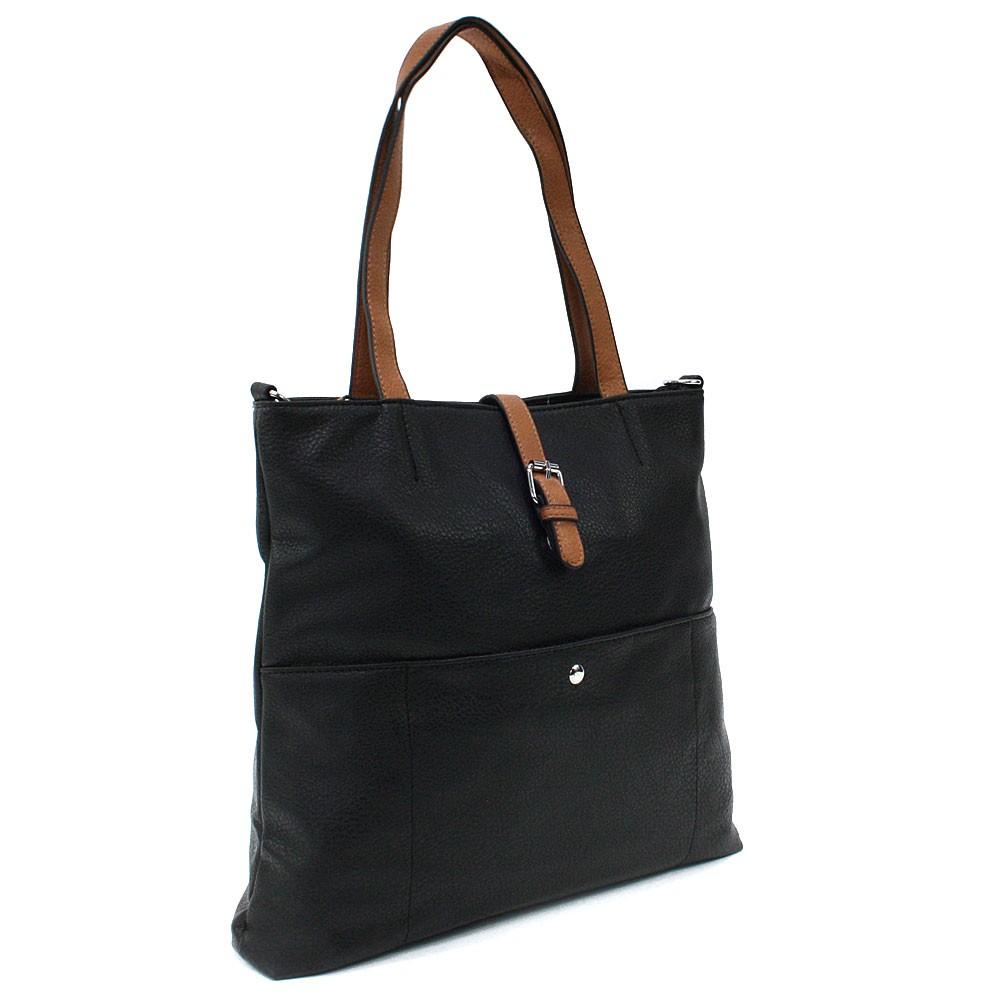 Černá elegantní velká dámská kabelka Moreen
