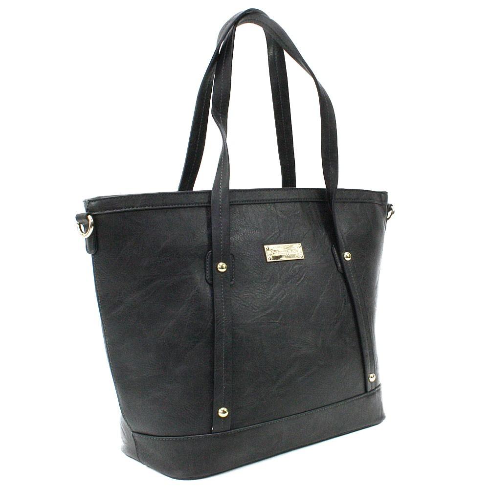 Tmavě šedá dámská elegantní kabelka do ruky i přes rameno Eloisa