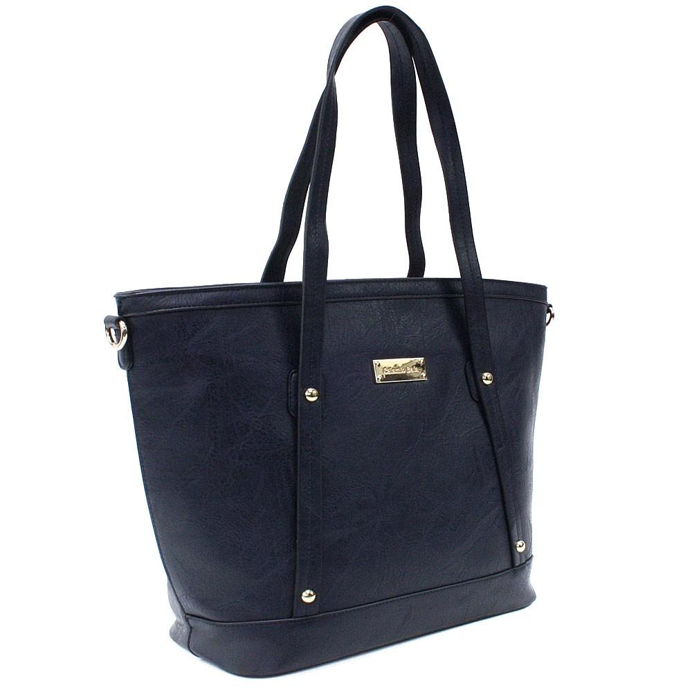 Tmavě modrá dámská elegantní kabelka do ruky i přes rameno Eloisa