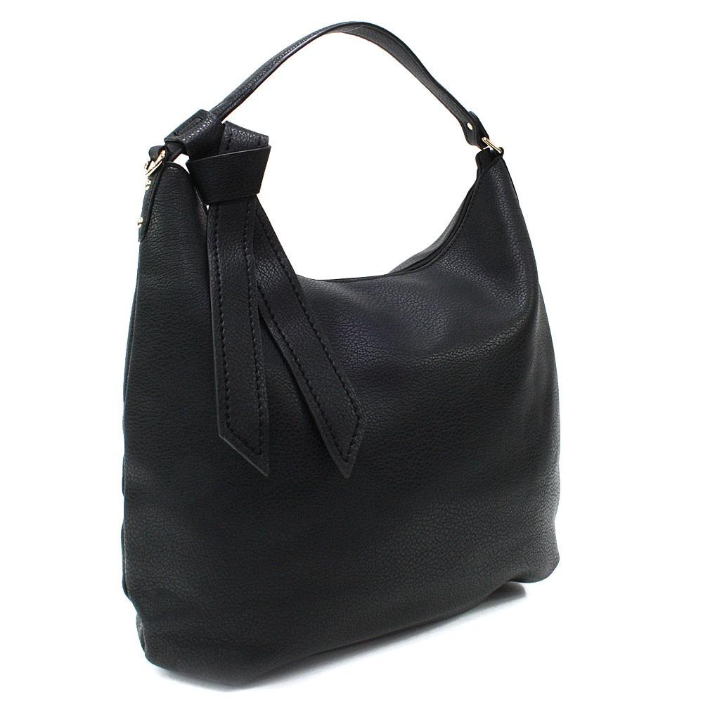 Černá hladká dámská kabelka přes rameno Aubine