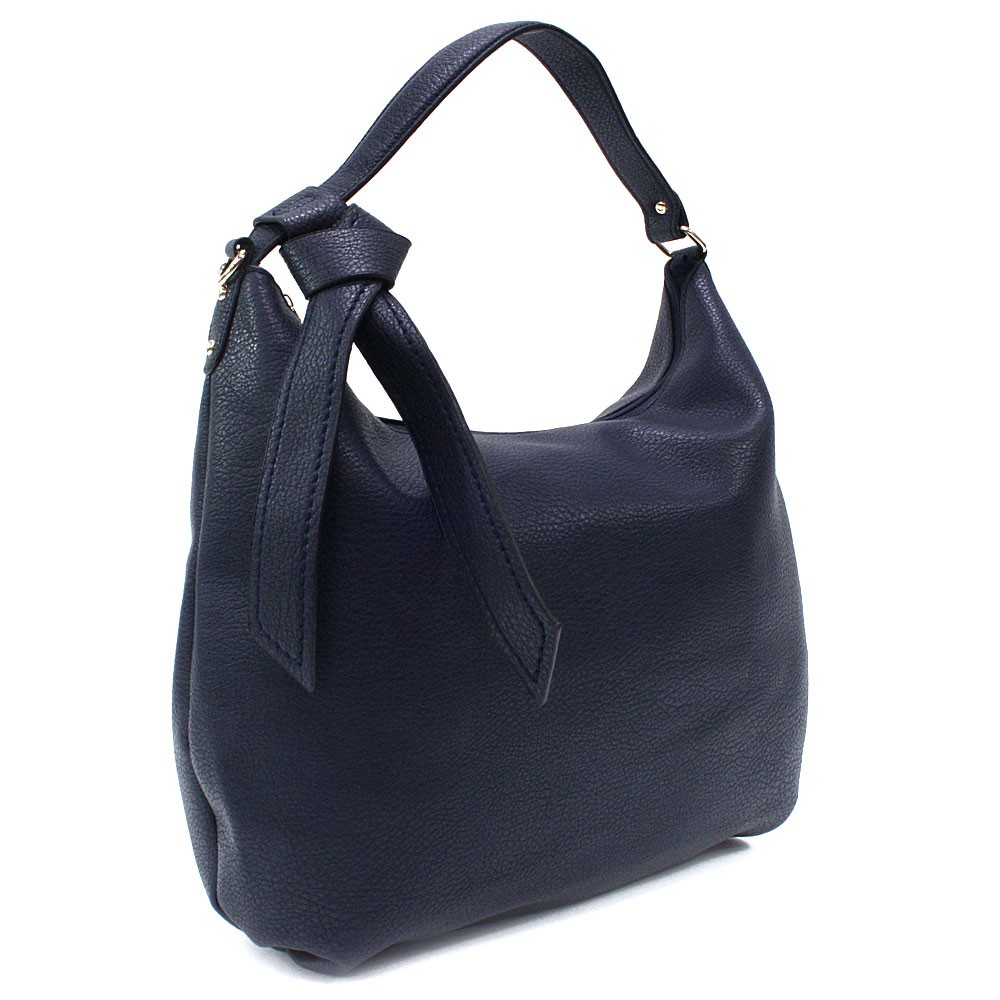 Tmavě modrá hladká dámská kabelka přes rameno Aubine