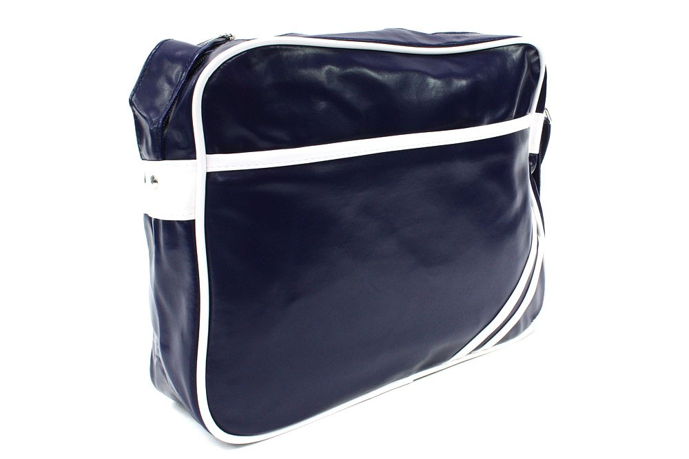 Modrobílá zipová taška přes rameno Chelsie