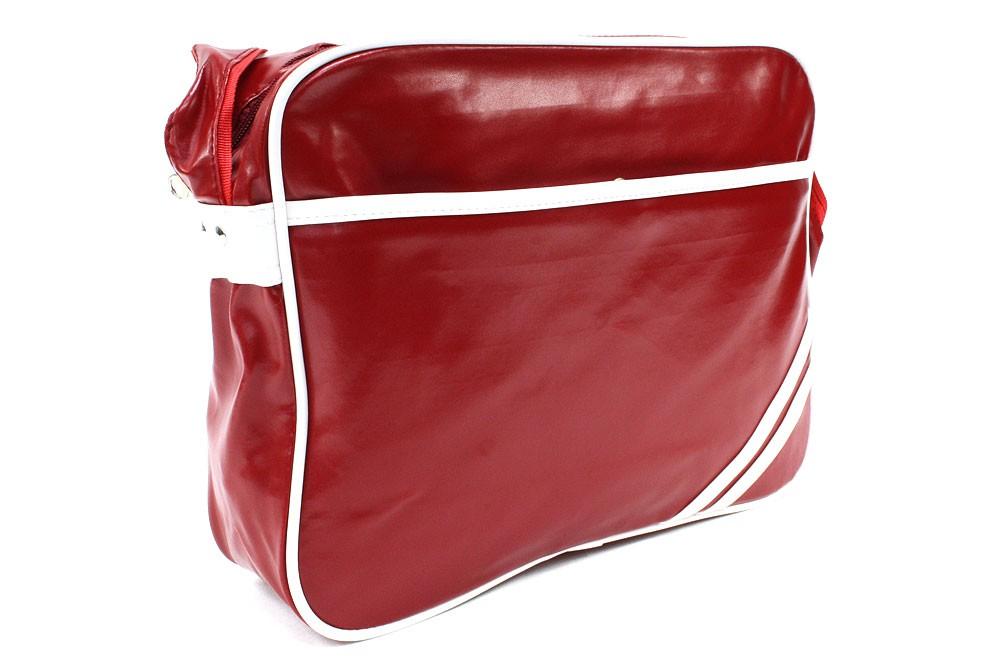 Červenobílá zipová taška přes rameno Chelsie