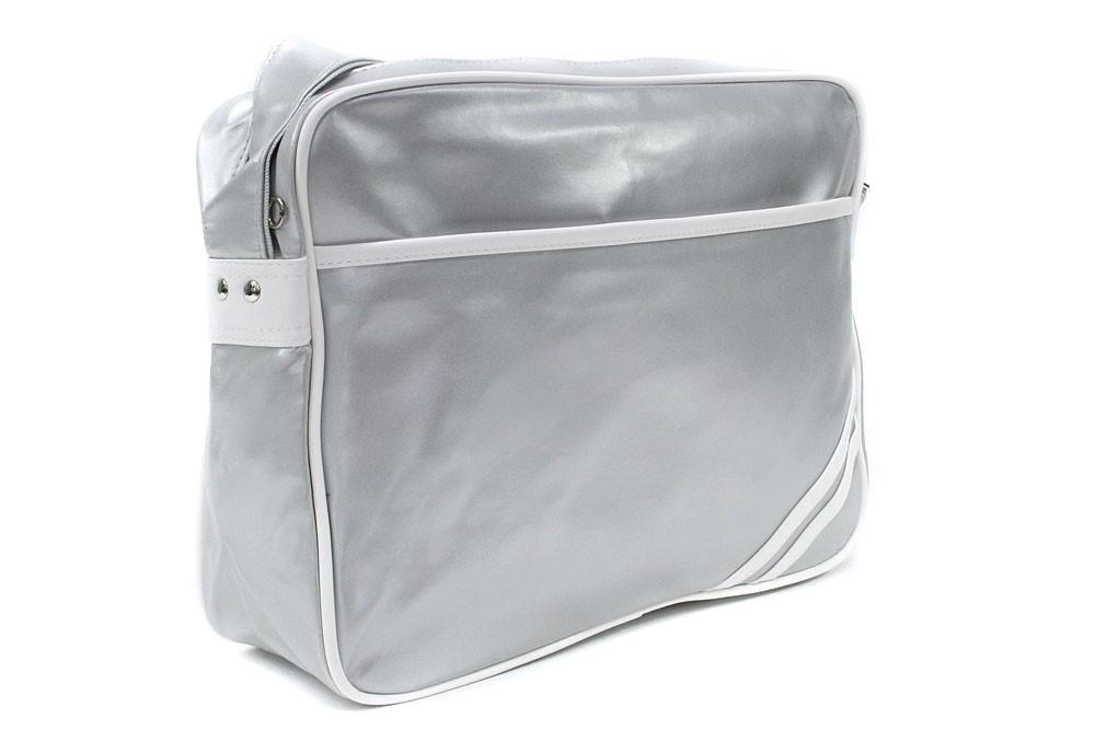 Šedobílá zipová taška přes rameno Chelsie
