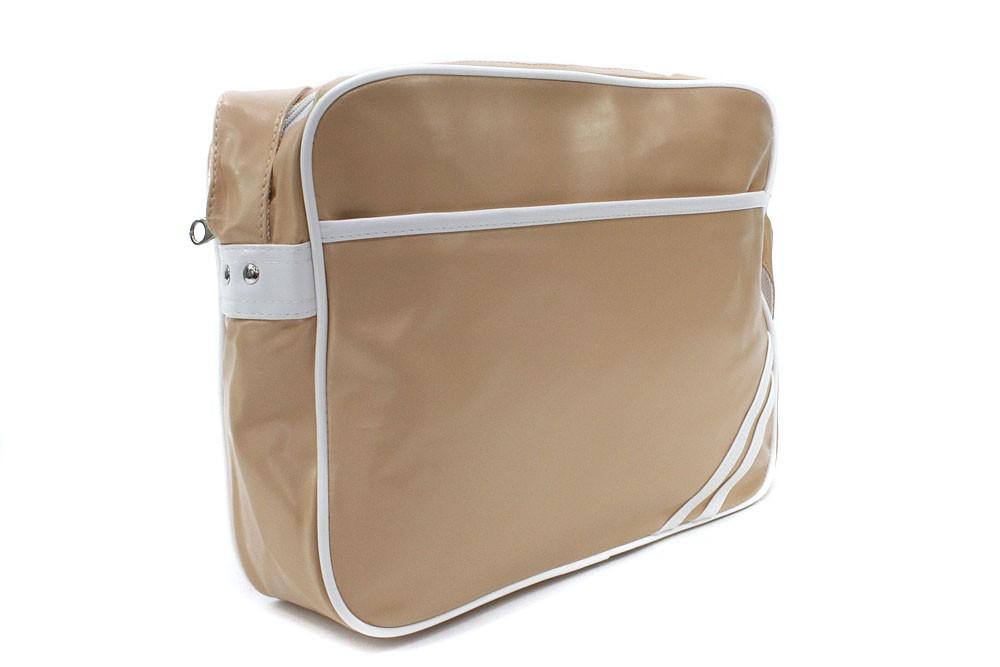 Béžovobílá zipová taška přes rameno Chelsie