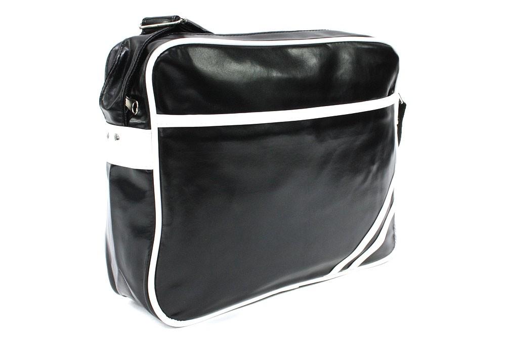 Černobílá zipová taška přes rameno Chelsie