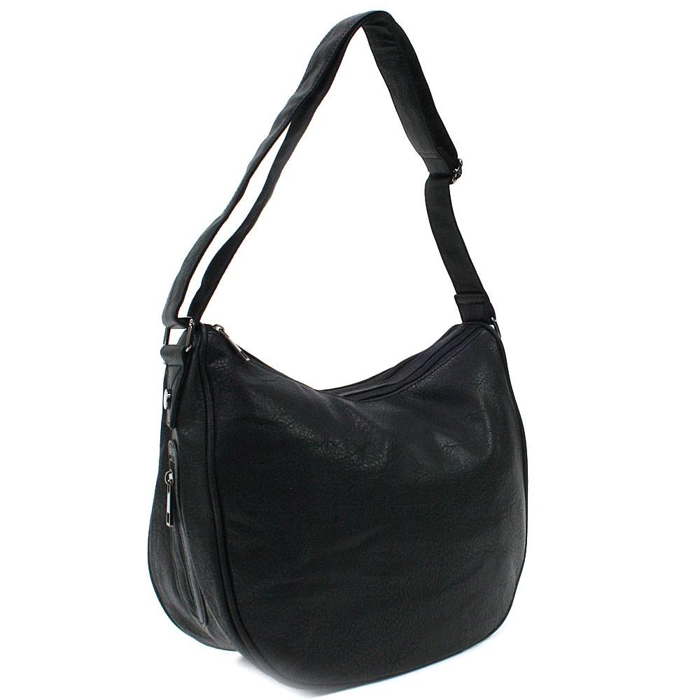 Černá zipová dámská kabelka ve tvaru gondoly Michella