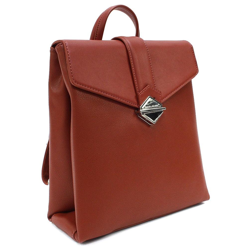 Cihlově červený dámský klopnový batoh Vickie