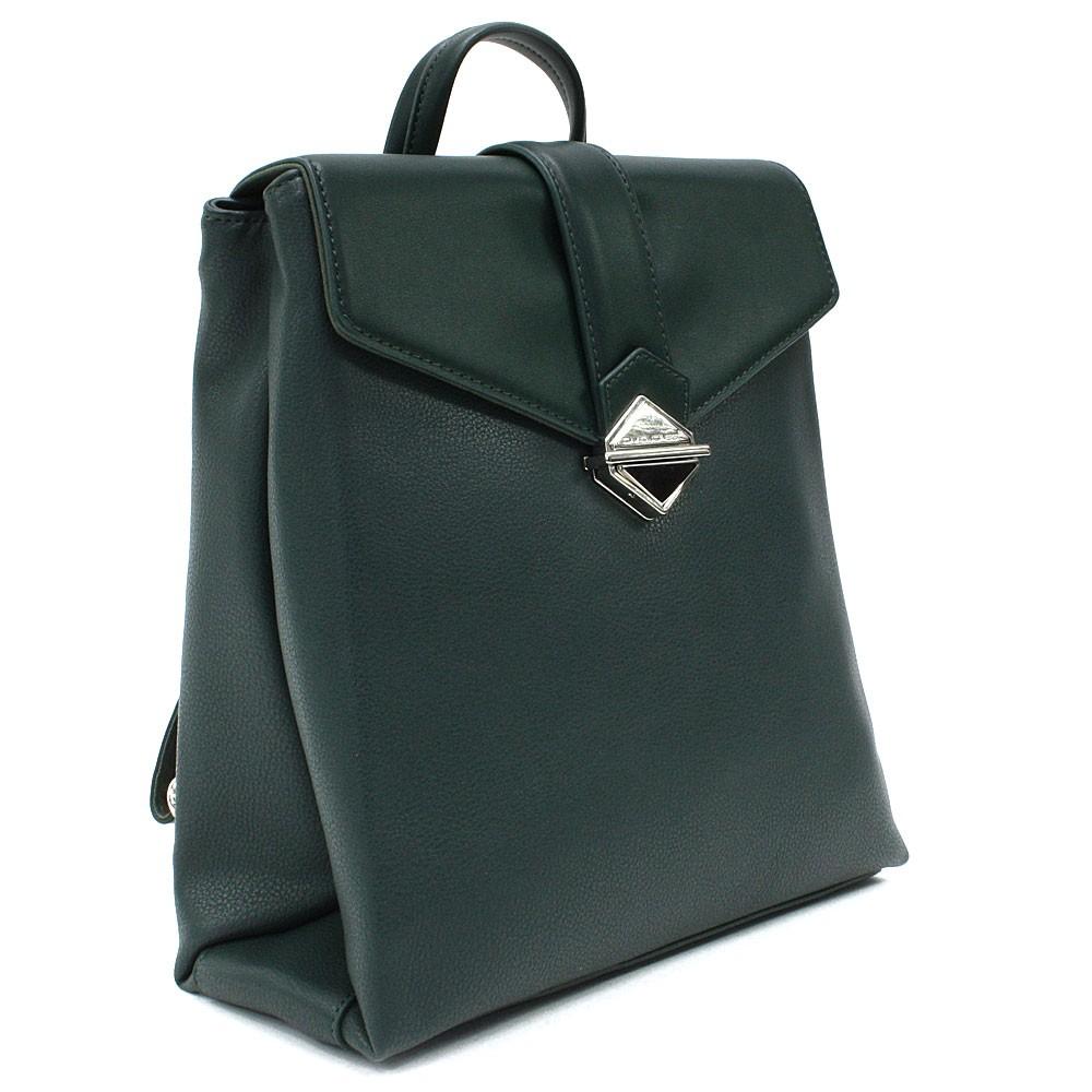 Tmavě zelený dámský klopnový batoh Vickie