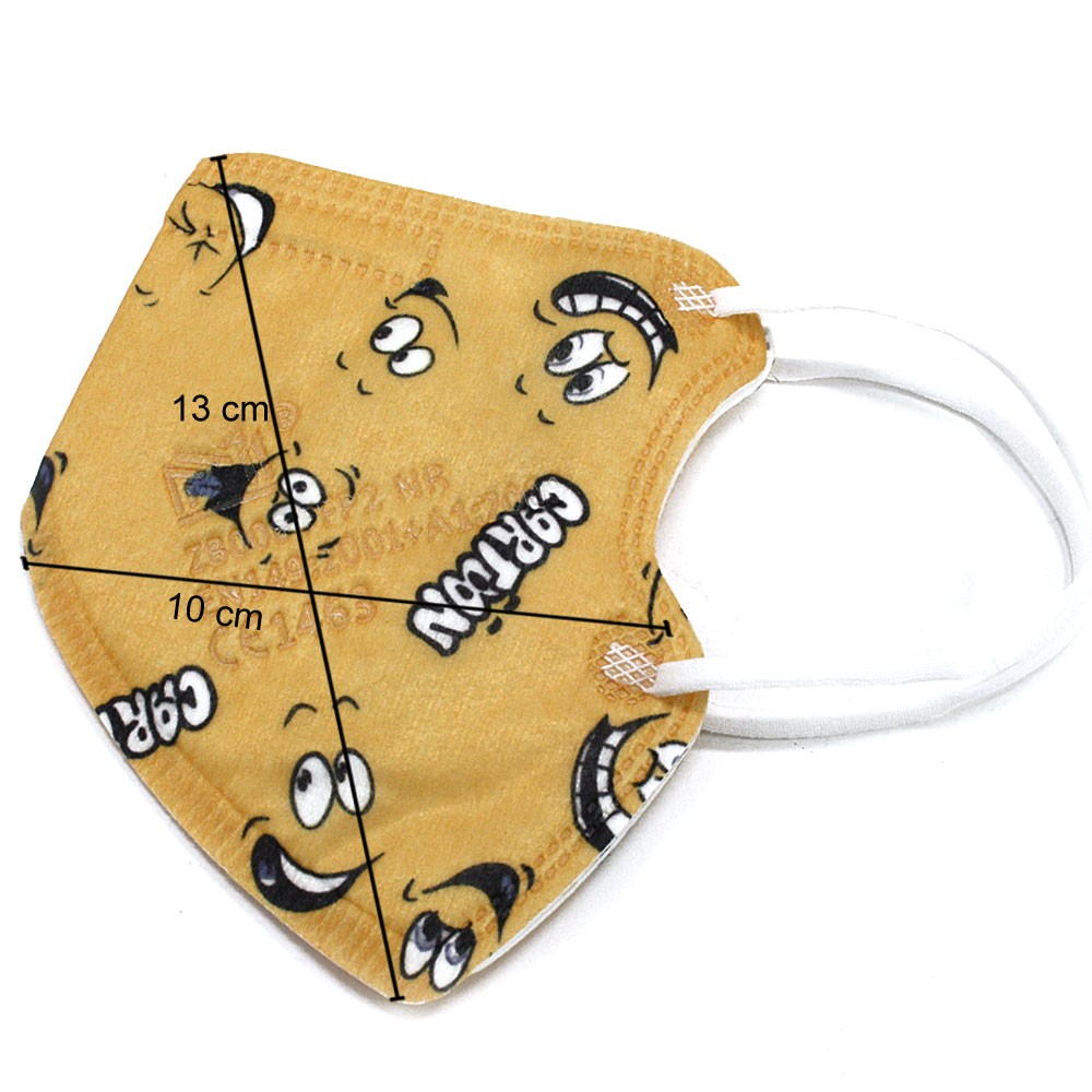 Dětská chlapecká ochranná maska respirátor FFP2 - 10 kusů