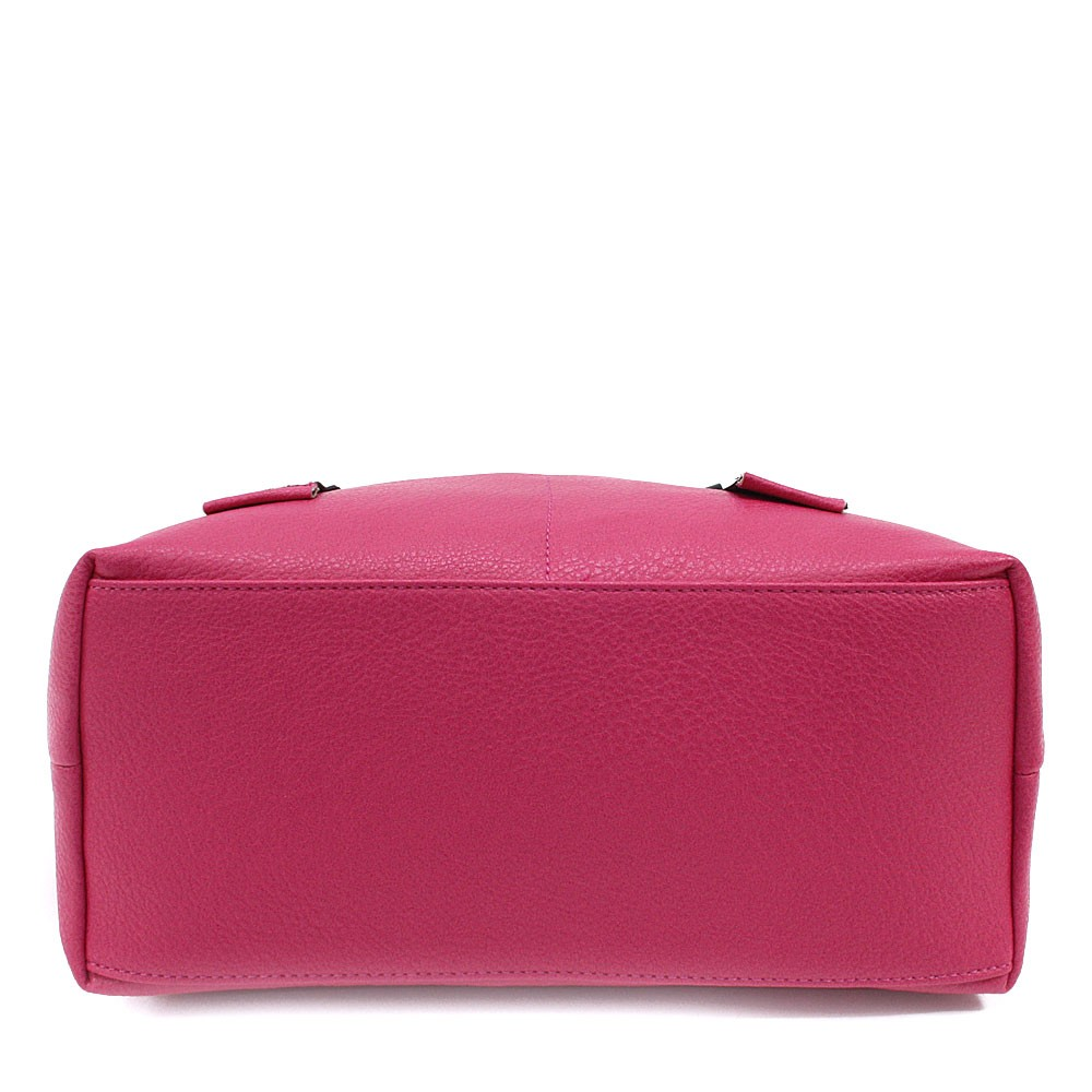 Fuchsiově růžová velká dámská zipová taška Adelia