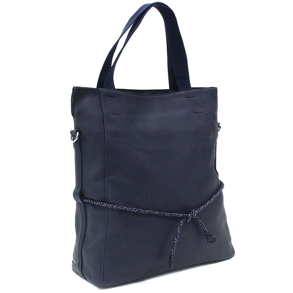 Tmavě modrá velká dámská zipová taška Liealia
