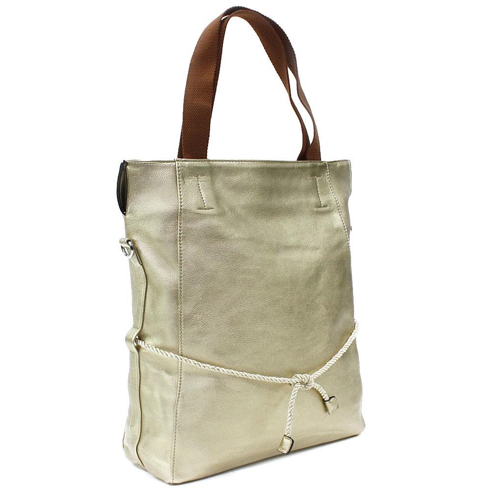 Zlatá velká dámská zipová taška Liealia