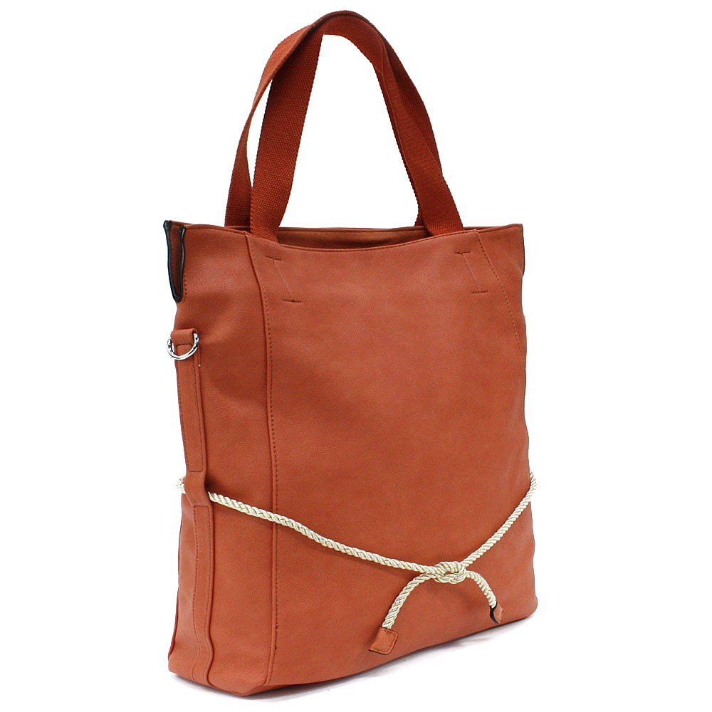 Oranžová velká dámská zipová taška Liealia