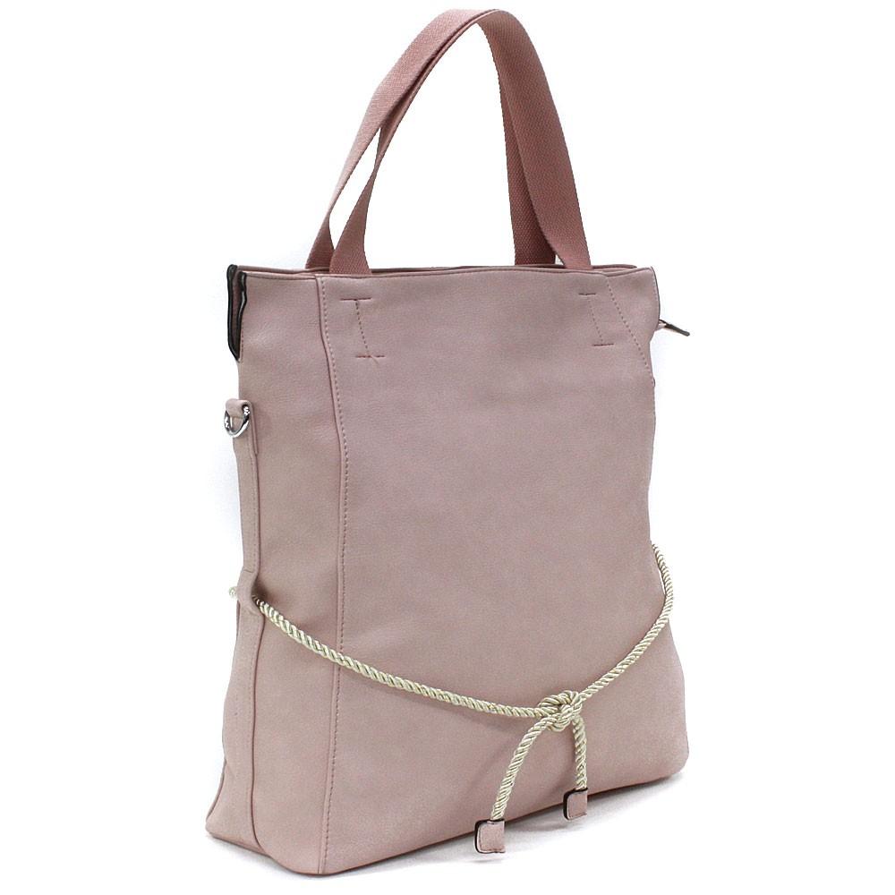 Světle růžová velká dámská zipová taška Liealia