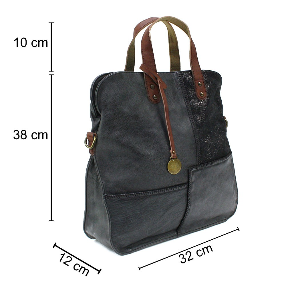 Tmavě šedá dámská zipová taška Azurine
