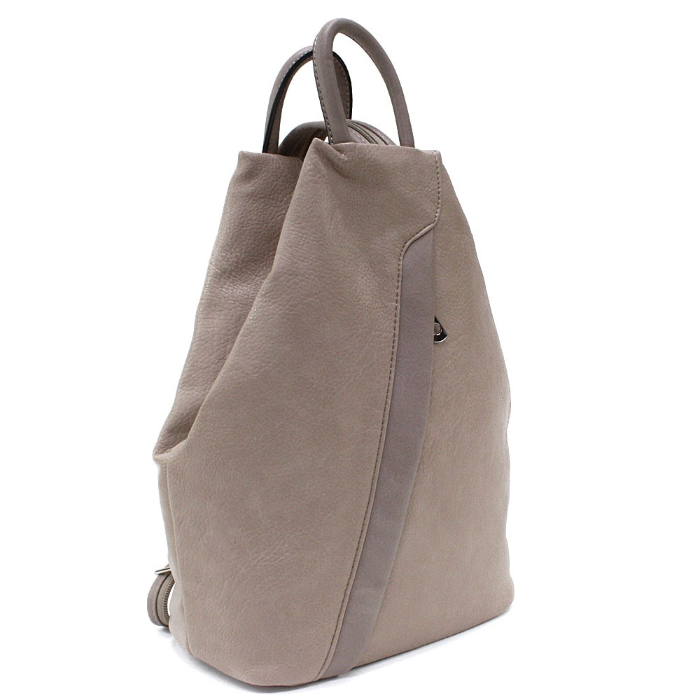 Světle hnědý moderní dámský batoh Devnet