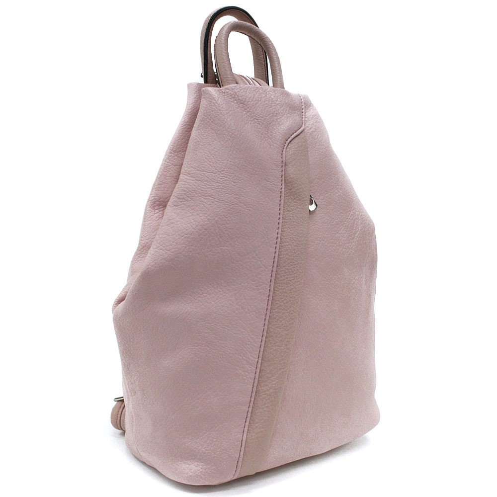 Světle růžový moderní dámský batoh Devnet