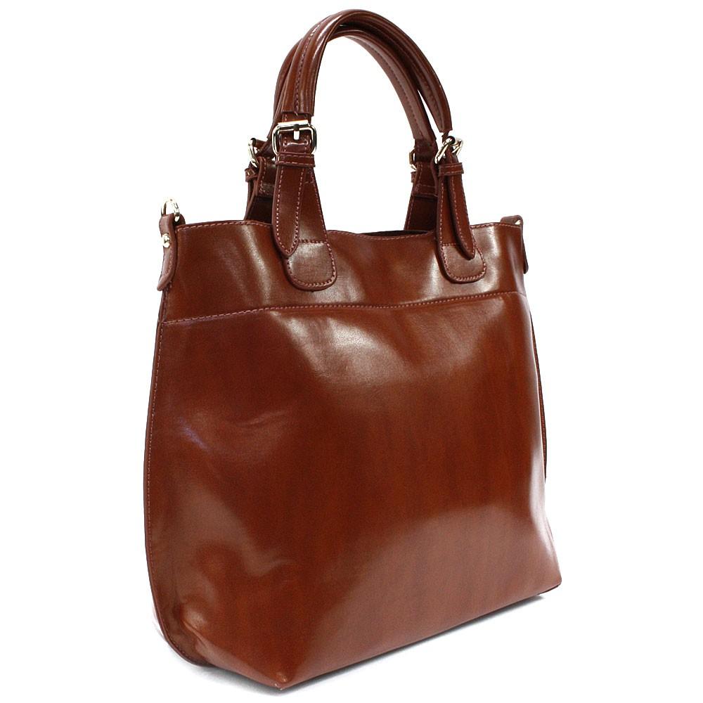 Hnědá dámská luxusní kabelka do ruky i přes rameno Apollina