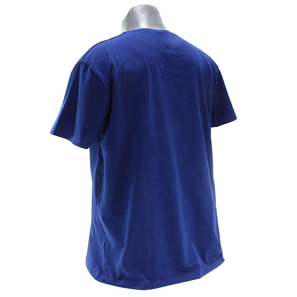 Modré pánské tričko s kulatým výstřihem Keenan
