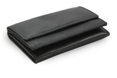 Černá dámská kožená mini peněženka Alaina