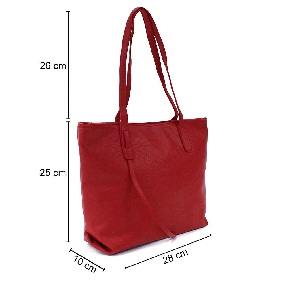 Červená dámská kabelka do ruky či přes rameno Adelynn