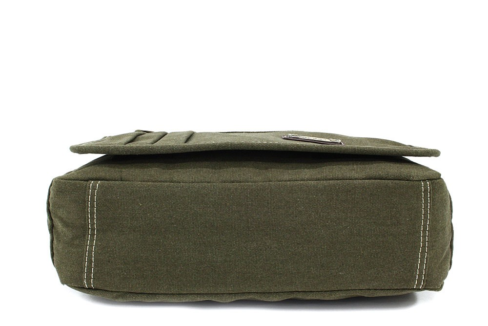 Zelenohnědá pánská látková crossbody taška Jionni
