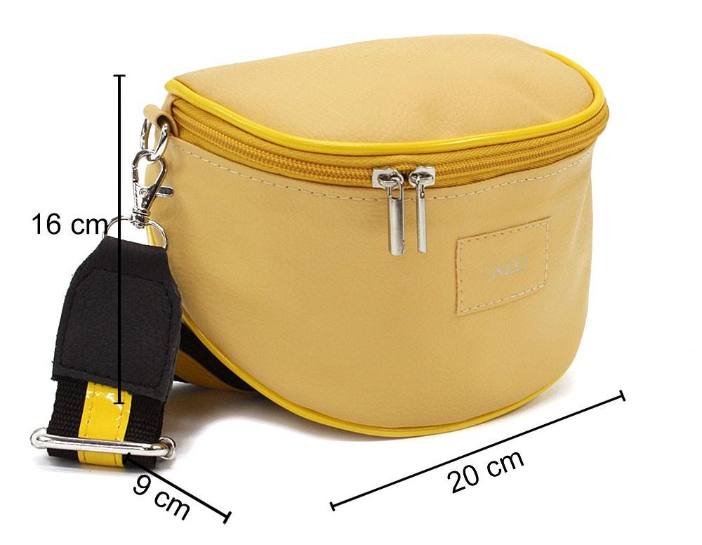 Žlutá dámská zipová kabelka - ledvinka Libby