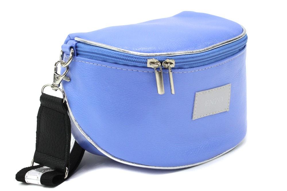 Modrá dámská zipová kabelka - ledvinka Libby