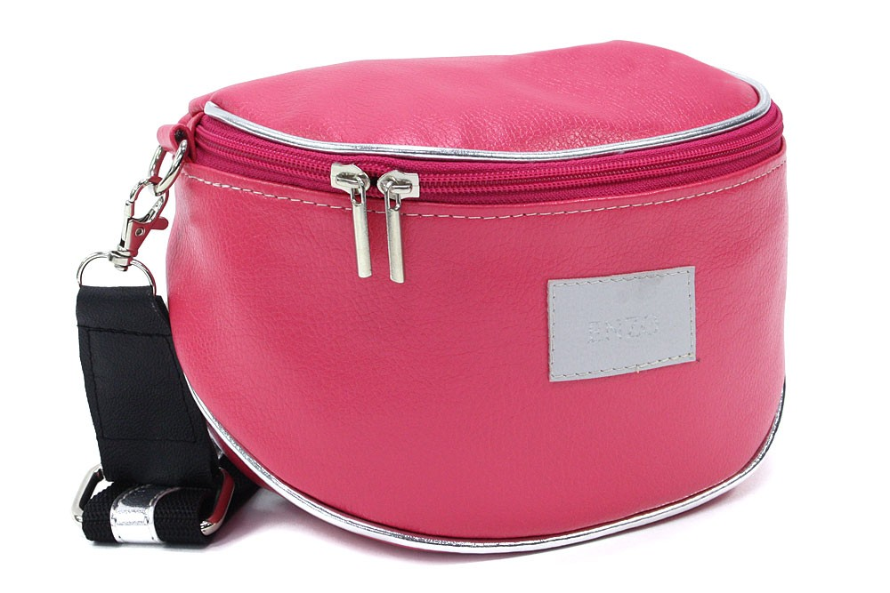 Růžová dámská zipová kabelka - ledvinka Libby