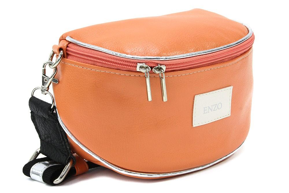Oranžová dámská zipová kabelka - ledvinka Libby