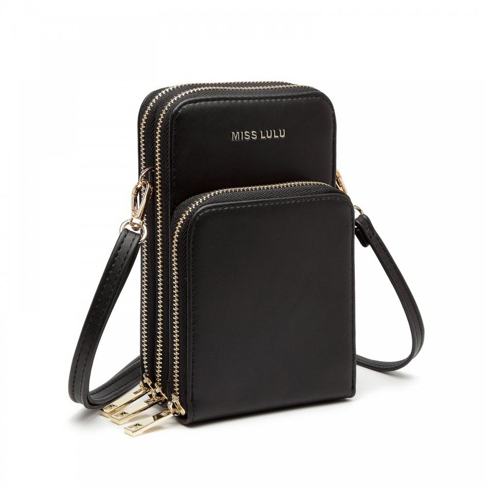 Černá zipová dámská kabelka na rameno Jineen