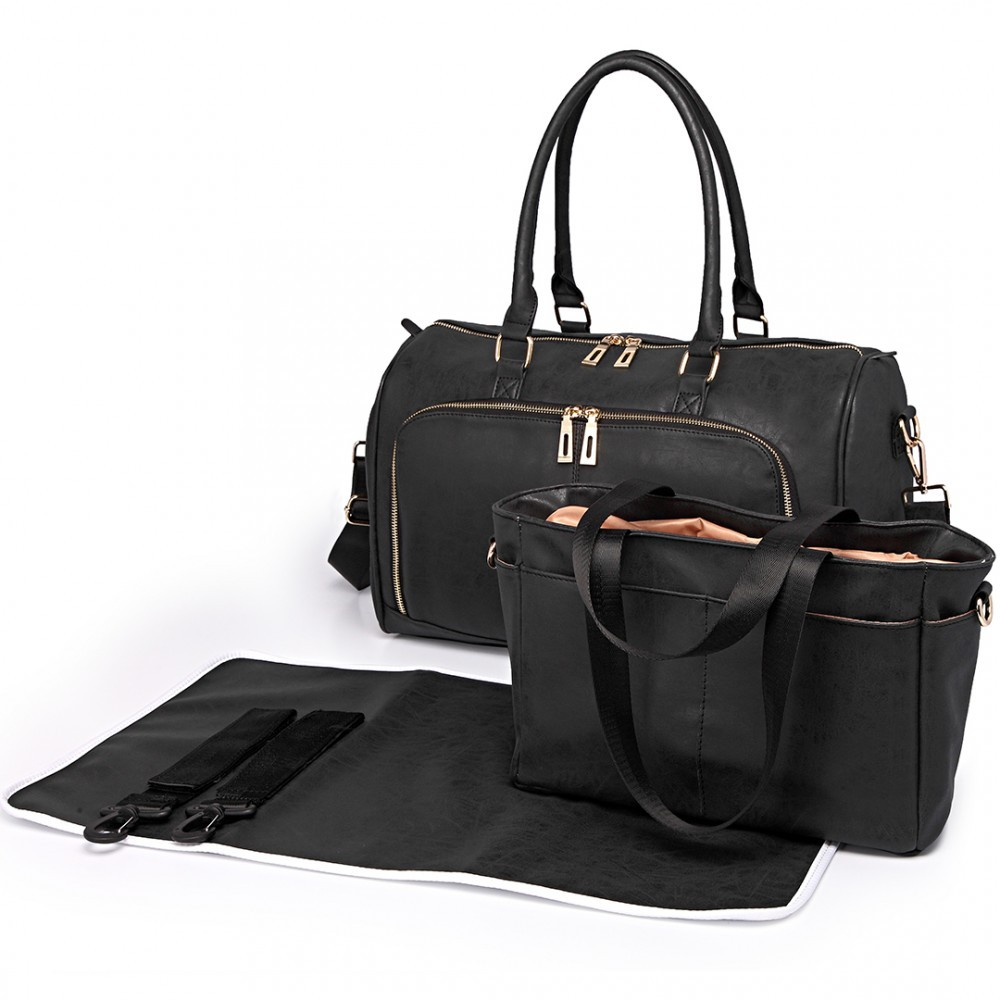 Černý luxusní přebalovací set 3v1 Aidith
