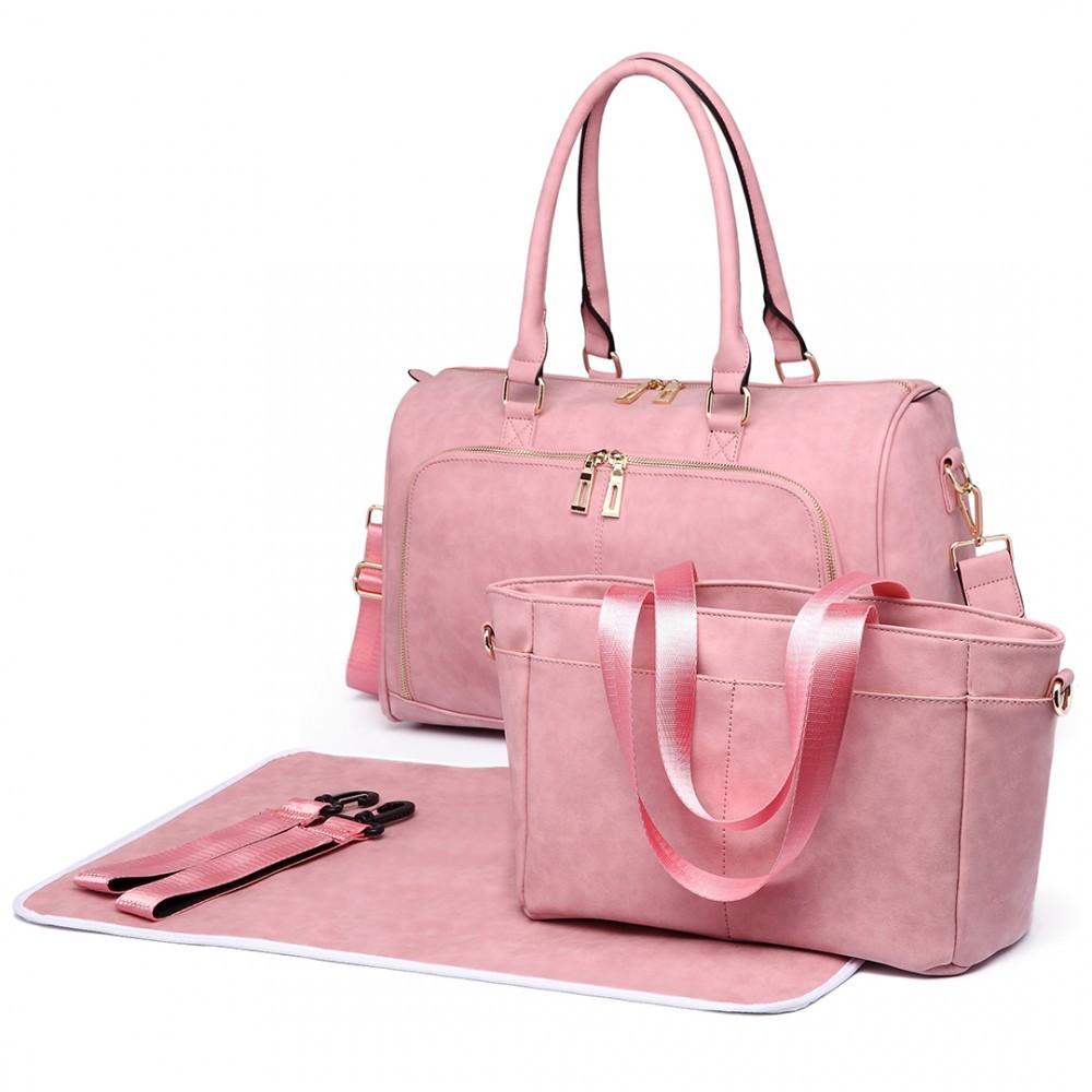 Růžový luxusní přebalovací set 3v1 Aidith
