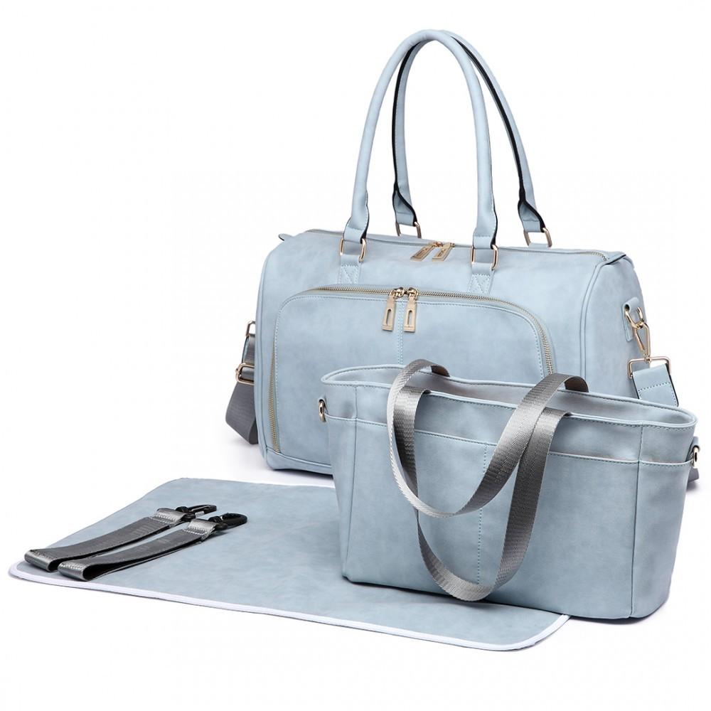 Světle modrý luxusní přebalovací set 3v1 Aidith