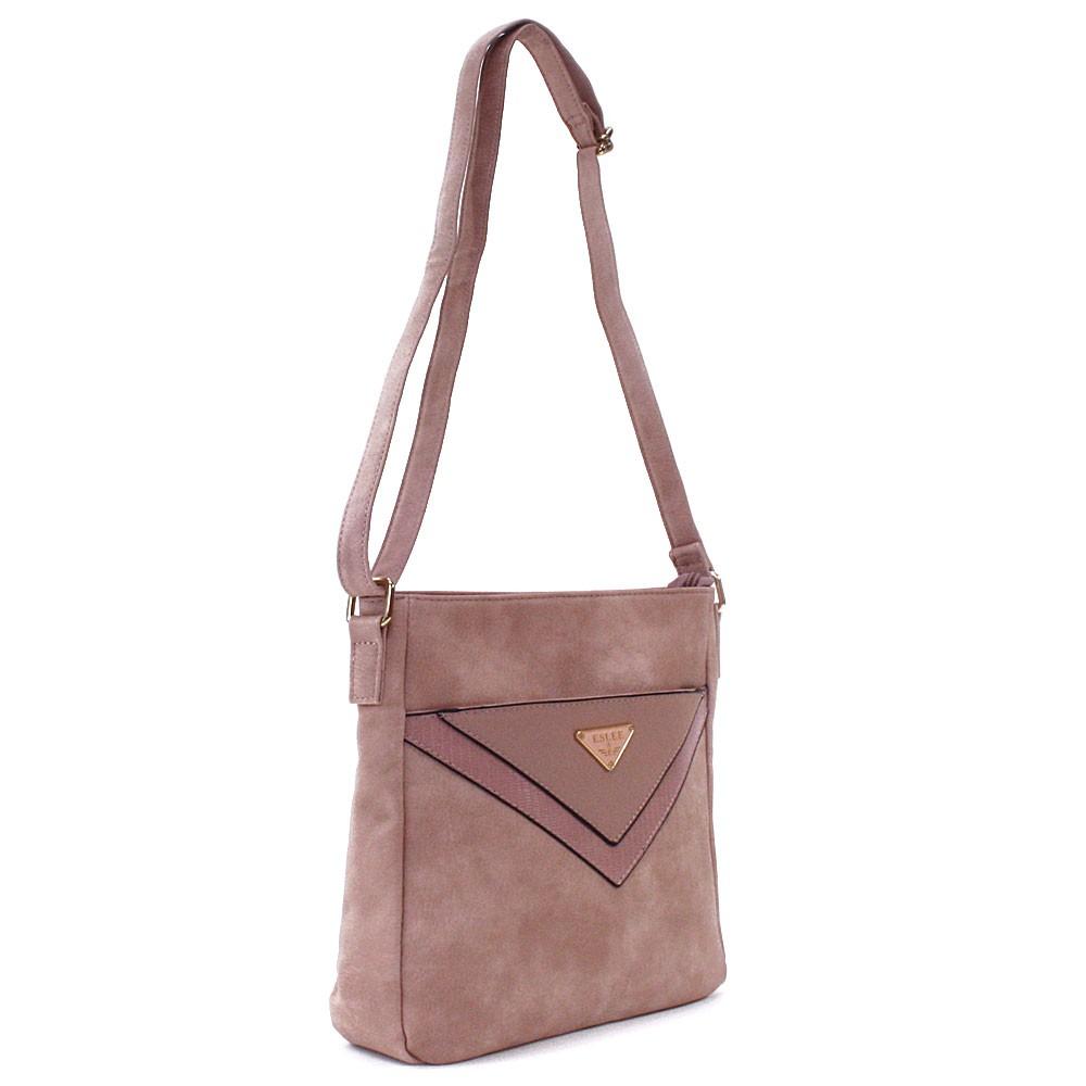 Růžová menší dámská crossbody zipová kabelka Jocelina