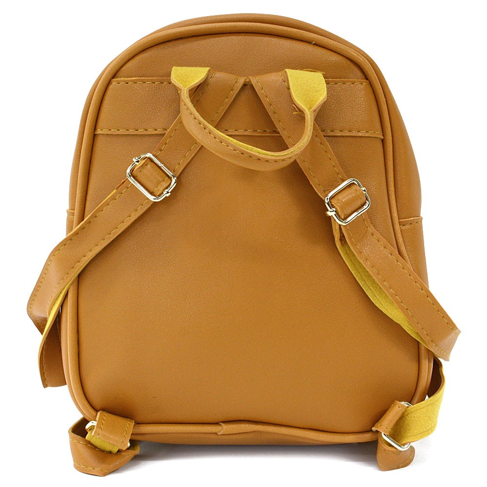 Tmavě žlutý dětský zipový batoh s obrázkem Vanessa