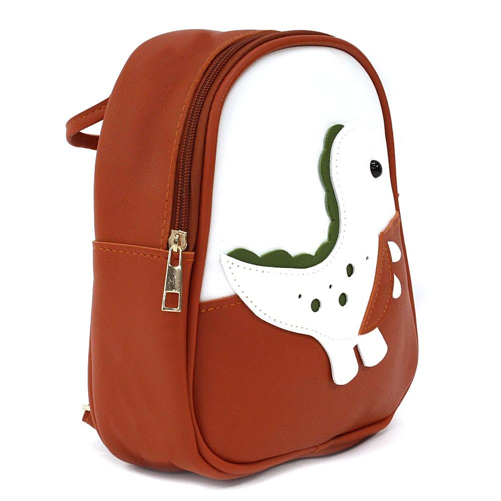 Tmavě oranžový dětský zipový batoh s obrázkem Vanessa