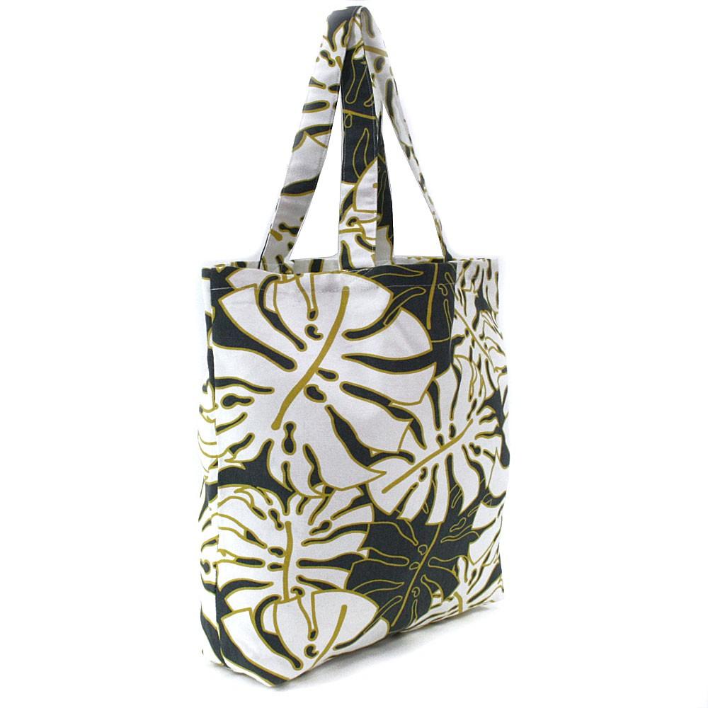 Bílošedá textilní dámská shopper taška Maeve