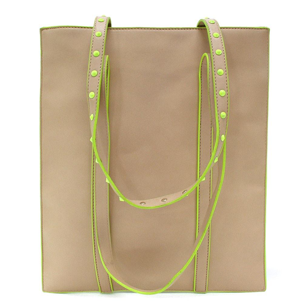 Béžová zipová dámská kabelka na rameno Shayla