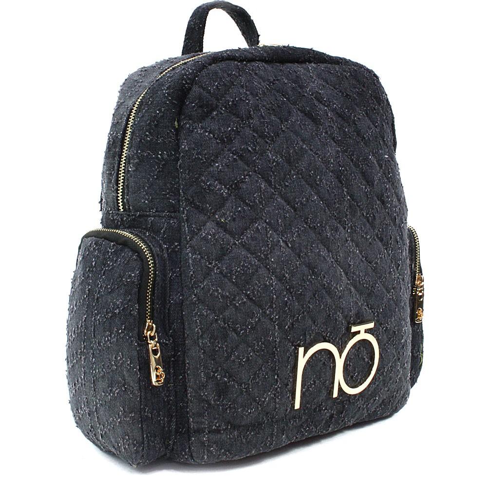 Antracitový dámský zipový batoh s prošitím Viviana