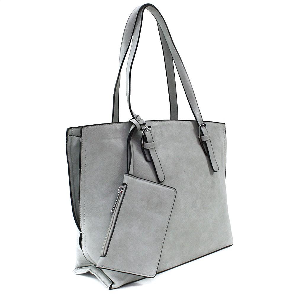 Světle šedý dámský kabelkový set 2v1 Fifine