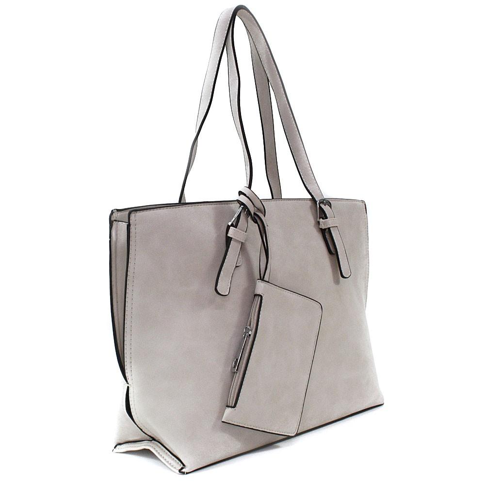 Béžový dámský kabelkový set 2v1 Fifine