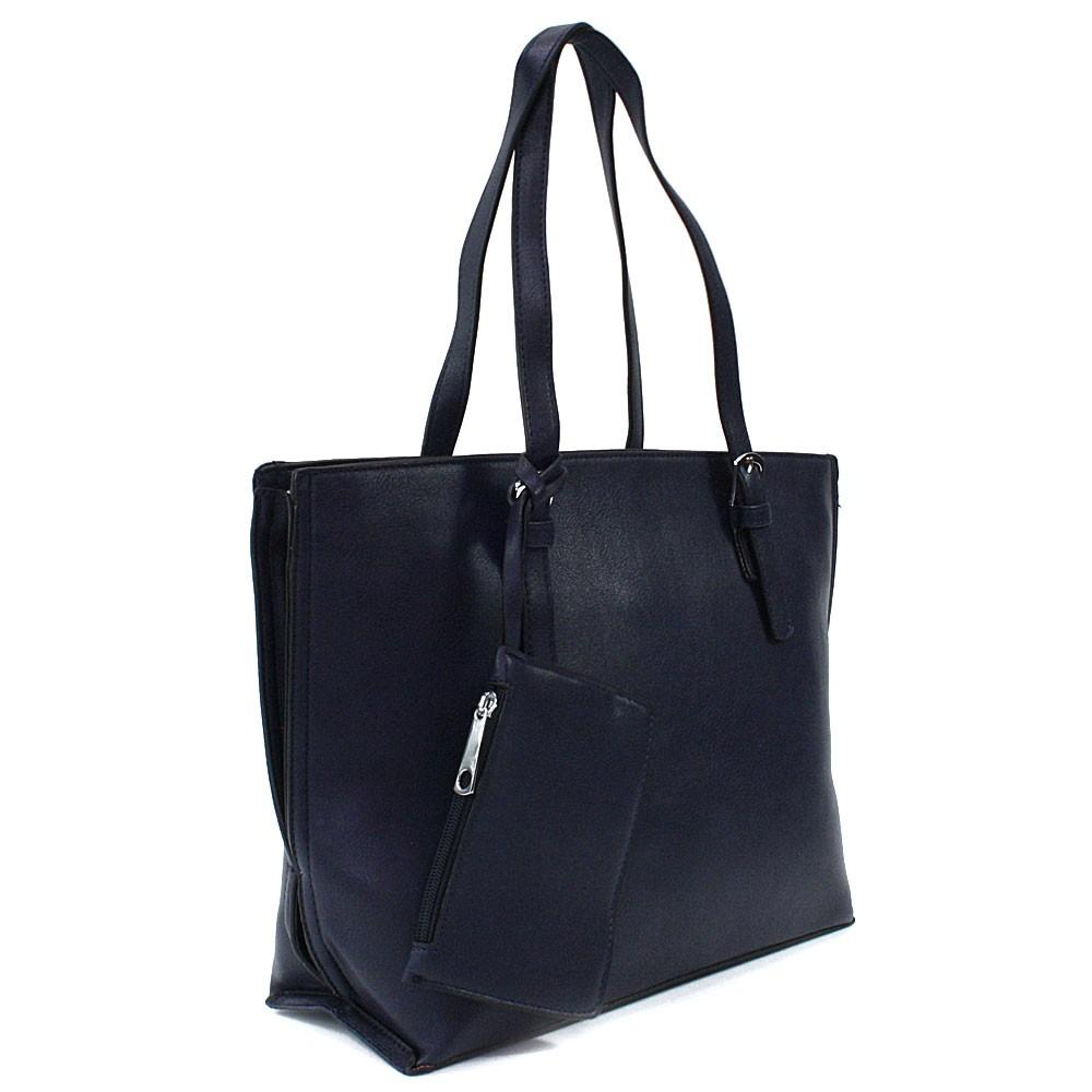 Tmavě modrý dámský kabelkový set 2v1 Fifine